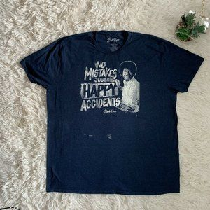 Bob Ross No Mistakes Happy Accidents Mens T Shirt